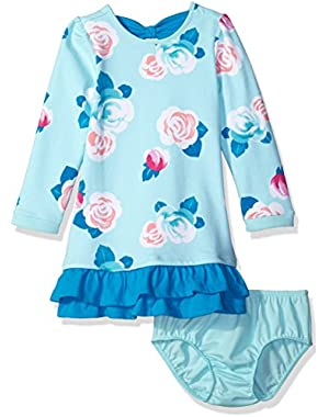 Toddler & Baby Girls' Rose Print Dress