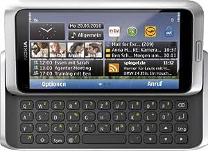 "Nokia E7-00 - Móvil libre (pantalla táctil de 4"" 640 x 360, 16 GB de capacidad, teclado QWERTZ, S.O. Symbian 3) color plata [importado de Alemania]"