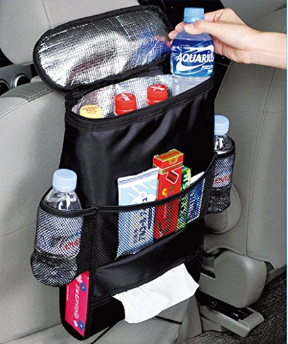 Kabalo Car Seat Organiser Tidy With Cool Insulated Cooler Bag Tissue Drinks Holder