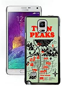 Samsung Galaxy Note 4 Cover Case,Map Location Twin Peaks American Crime Mystery Drama Black Cool Customized Samsung Galaxy Note 4 Case
