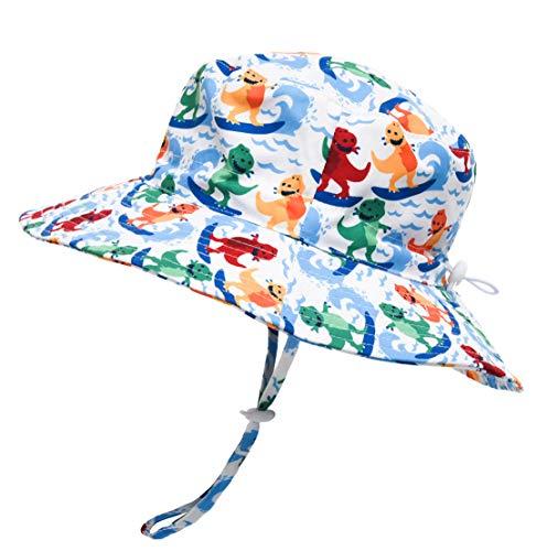 (Toddler Hat Boy UPF 50+ Adjustable Wide Brim Sun Protection Hats for Babies Boys ((19.6