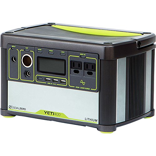 Goal Zero Yeti 400 Lithium Portable Power Station, 428Wh Rechargeable Generator And Backup Power Source