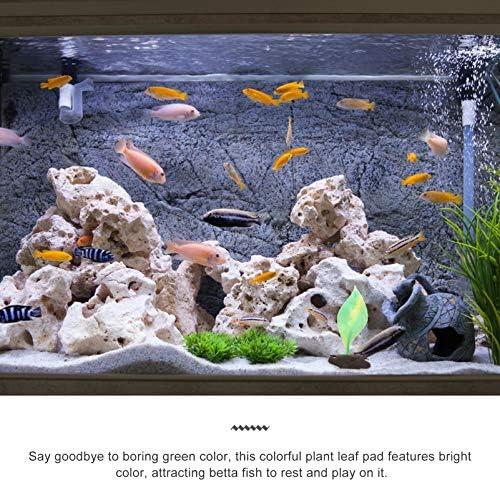 Almohadilla de hoja de pez betta con ventosa hamaca de hojas 10