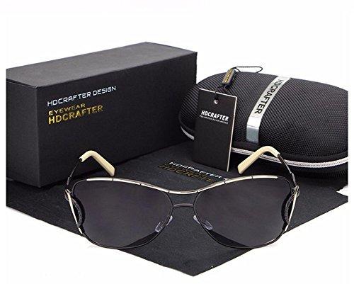HDCRAFTER New Summer Fashion Outdoor Women Special mirror design Sunglasses UV400 (black) (Sunglasses B&m)