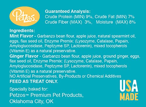 Petzos Hypoallergenic Dog Treats-Mint and Ginger