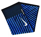 Nike Face/Club Jacquard Towel, Black/White/Military Blue