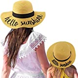 C.C Womens Mommy and Me Girls Sayings Summer Beach Pool Floppy Dress Sun Hat Natural (Little Sunshine)