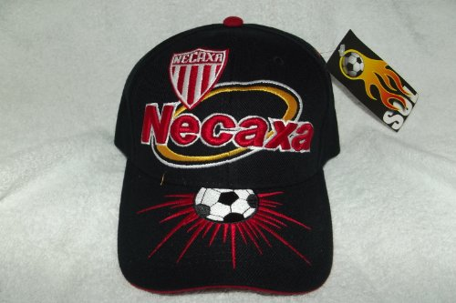 fan products of New! SOL Black Club Necaxa Rayos 3D Embroidered Adjustable Velcro Back Cap Soccer Hat