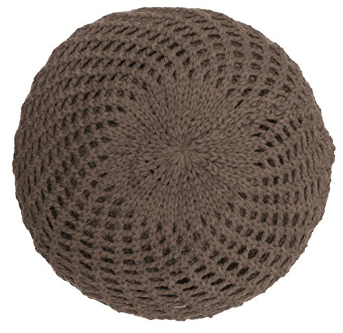 KMystic Classic Winter Knitted Beret (Brown)