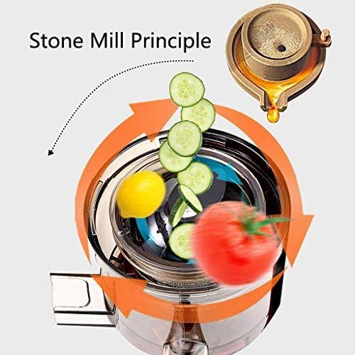 Extracteur de Jus de Fruits et Légumes sans BPA Slow Juicer Presse à Froid Machine avec Moteur Silencieux/Tasse à jus/Brosse de Nettoyage/adapté à Tous Les Fruits et Légumes