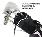 AGXGOLF Ladies Right Hand Aries Complete Golf Club Set w/Stand Bag+Driver+3 Wd+Hybrid+5-9 Irons+Pitching Wedge+Free Putter: Regular Length