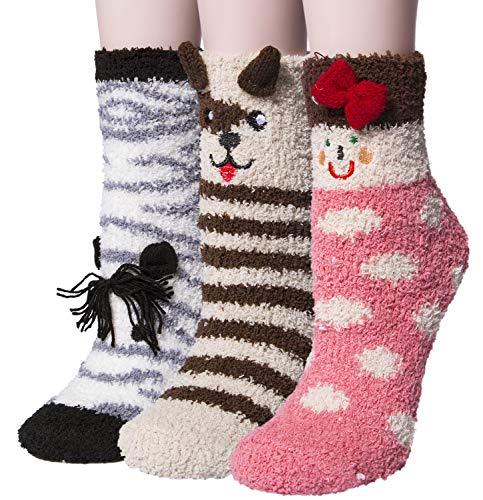 Socks Pairs 3 Fuzzy Sleeping 02 Home Womens Socks Mix Winter Soft Slipper Warm vdTax