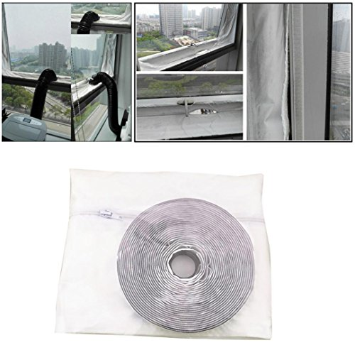 LiPing Airlock Window Sealing Window Seal for Mobile Air-Conditioning Units Mobile Air Conditioning Soft Cloth Sealing Baffle Window Door Seal Window Frame Plate (156in(400CM)) by LiPing