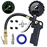 AstroAI Tire Inflator with Pressure Gauge, 100 PSI Air Chuck and Compressor Accessories