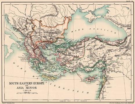 Amazon.com: BALKANS C1210 AD. South-Eastern Europe & Asia Minor ...