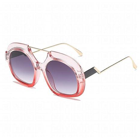 Limeinimukete Gafas de Sol graduadas Irregulares de Gran ...