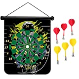 15 inches Magnetic Dart Board Double Sided Hanging Dart Board Set and Bullseye Game! Bike To The Moon