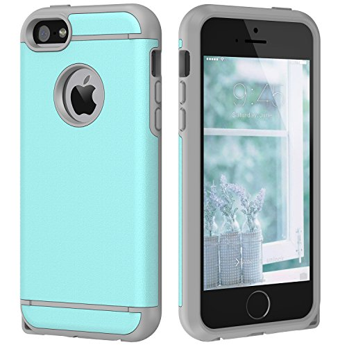 Cheap iPhone 5S Case, iPhone 5 Case ,SE Case CHTech Dual Layer Hybrid Slim Hard Case with Hard PC Cover and Soft Inner TPU for iPhone 5/5S/SE – Mint