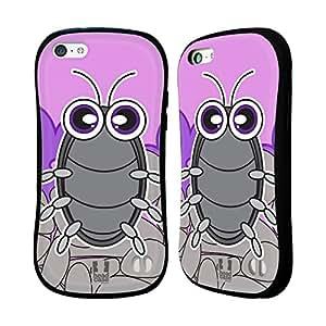 Head Case Designs Pill Bug Eye Bugs Hybrid Gel Back Case for Apple iPhone 5c