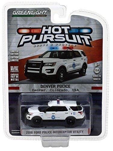 Greenlight 1/64 Denver, Colorado Police 2016 Ford PI Utility SUV (Colorado 1)