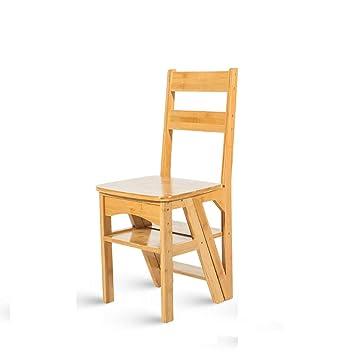 ZXWDIAN Sillón Escalera multifunción de bambú para el hogar ...