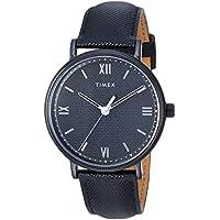 Timex Southview 41mm Blackout Leather Strap Men's Watch