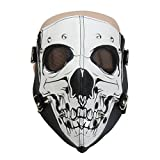 HuiZhi Leather Rivet Skull Riding Mask Punk Half Face Dust Windproof Mask