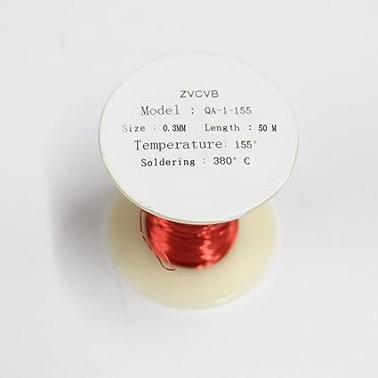 ZVCVB - Bobina magnética de alambre de cobre esmaltado (0,3 x 50 m