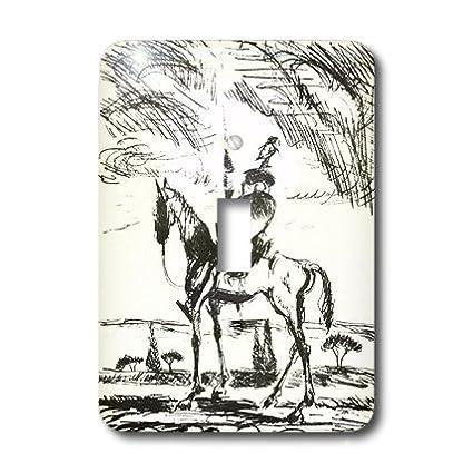 3dRose lsp/_78688/_1 Don Quixote Single Toggle Switch