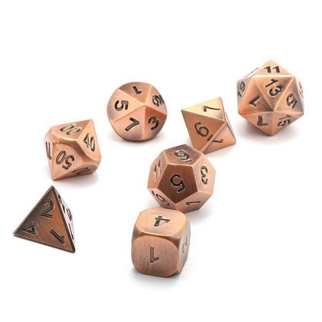 Idomeo ポリヘドロン メタルドラゴンとダンジョンズ ボードゲーム ダイスセット サイコロ  Red Copper B07JB9NTDR