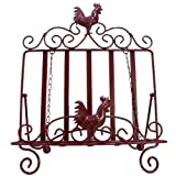 LL Home 21677 Metal Rooster Book Easel Page Weights, One Size, Dark Red Review