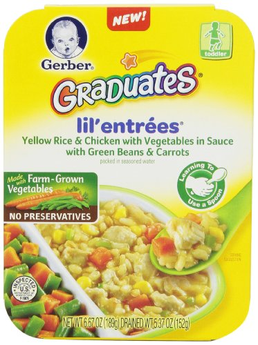 Gerber Graduates Lil Entrees Yellow Rice with Chicken Vegetables 6.67oz packages, 8 (Gerber Rice Organic)