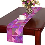 Jnseff Puzzle Color Curved Geometric Table Runner, Kitchen Dining Table Runner 16 X 72 Inch For Dinner Parties, Events, Decor