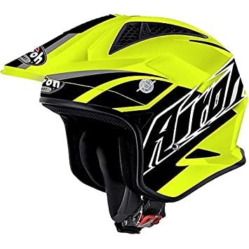 Casco Moto Trial Off Road Airoh TRR S BREAKER Amarillo Small