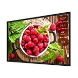 Projector Screen Fixed Frame Projection Screen 100' 16:9 4K Ultra HD Ready Wall Mounting for Indoor Movie Home Theater Cinema Format (6 Piece Fixed Frame) PVC Matte White Screen
