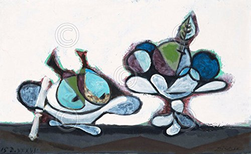 Dish of Pears 1936 by Pablo Picasso Abstract Figurative Still Life Poster (Choose Size of Print) ()