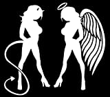 devil and angel girl sticker - Skin Angel Devil Girl Sticker (Decal) #3 - 5.5