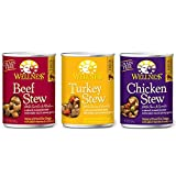 Wellness Stew Wet Canned Dog Food Variety Bundle - 3 Flavors (12 Pack)