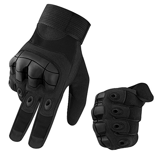 accmor Touch Screen Military Hard Knuckle Full Finger Tactical Gloves Fit for Cycling Motorcycle Hiking Camping Airsoft Paintball