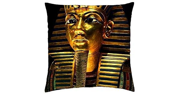 Bluela Máscara de Tutankhamun - Funda de Almohada (40,6 x 40,6 cm): Amazon.es: Hogar