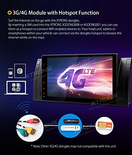 XTRONS/® 9 Android 8.0 Car Stereo Player Octa Core 4G RAM 32G ROM HD Digital Multi-touch Screen OBD2 DVR Tire Pressure Monitoring Wifi for BMW X5 E53 E39