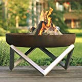 Rust & Stainless Steel Modern Outdoor Patio Fire Pit MEMEL (Medium) Review