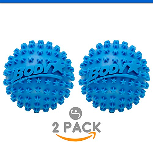 Deep Penetrating Massage - Body Back Body Star 2.5 Inch Spiky Foot Massager & Roller Ball – Deep Tissue Massage ideal for Plantar Fasciitis Treatment, Back Pain Relief, Trigger Point & Myofascial Release by Company