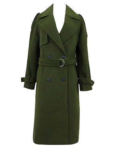 Abrigo Trench Mujer Chaqueta Solapa Manga Larga Doble De Pecho Trench Coat Jacket