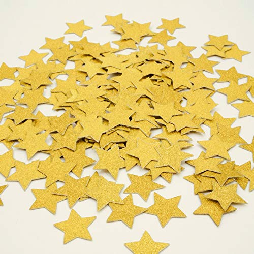 Gold Glitter Twinkle Stars Table Confetti Wedding Shower Bachelorette Christmas Sprinkles Party Table Scatter Confetti Decor Baby Shower Birthday Party Graduation Decorations, 200pc
