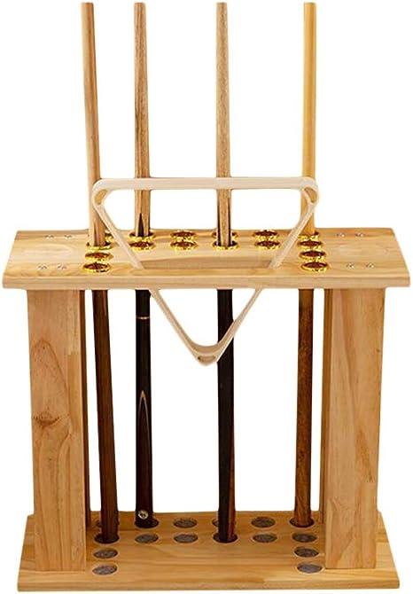 Whchiy Billiard - Soporte para Palos de Billar (16 estantes ...