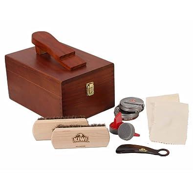 Kiwi Select Shoe Shine Care Kit Valet II Wooden Box w/ 10 pc Content  sc 1 st  Amazon.com & Amazon.com: Kiwi Select Shoe Shine Care Kit Valet II Wooden Box w ... Aboutintivar.Com
