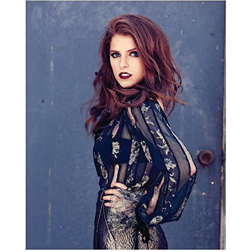 Anna Kendrick Looking Good in Black and Red 8 x 10 inch Photo