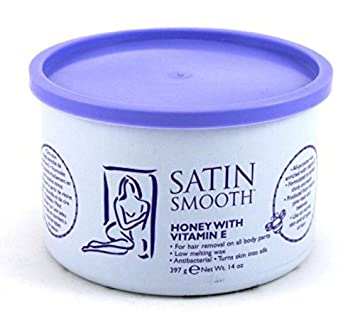 Satin Smooth Wax Honey With Vitamin-E 14oz Jar (6 Pack)