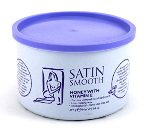 Satin Smooth Wax Honey With Vitamin-E 14oz Jar (2 Pack)